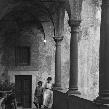 Scorcio dell'interno del Castello di Virgoletta 1913