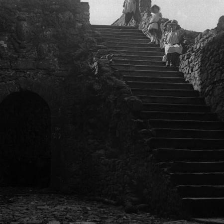 Scala d'accesso al Castello di Castiglione del Terziere 1919