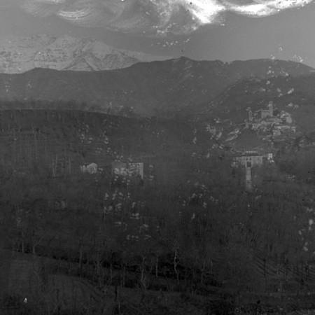 Panorama con il Castello di Bagnone 1901
