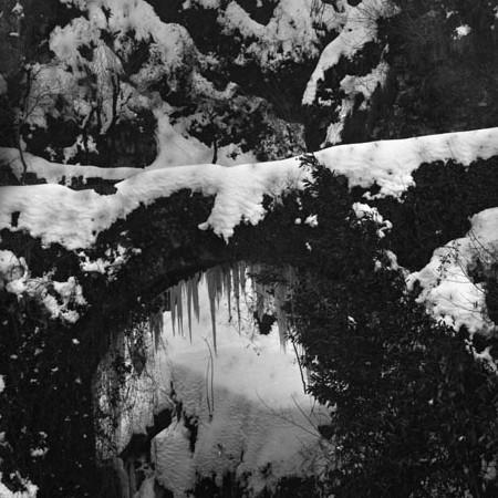 Ponte della Pandeggia innevato 1905