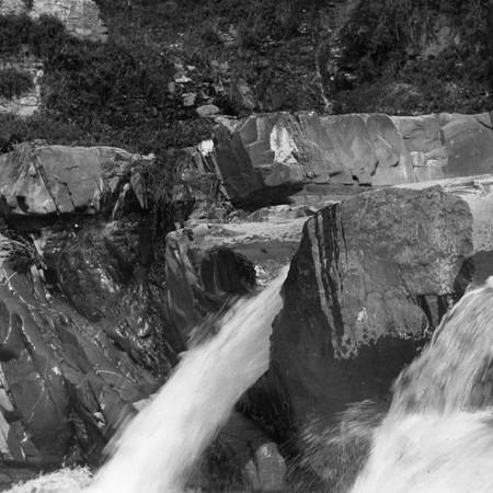 Cascate  del fiume Bagnone1915