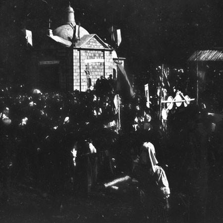 Inaugurazione della Cappella del Redentore del Faggio Crociato 1900